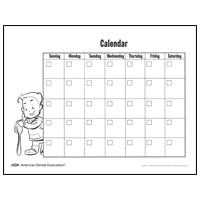 Drawing of calendar