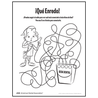 Dental floss tangle maze - Spanish