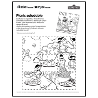 Healthy picnic puzzle - Spanish