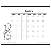Drawing of calendar - Spanish