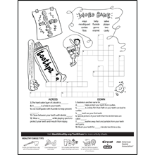 Tooth Team Worksheets for National Children's Dental