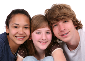 Image of three diverse kids
