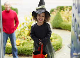 halloween image little girl witch