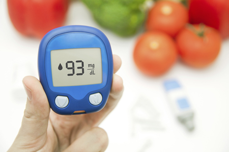 Blood sugar monitor for someone with diabetes