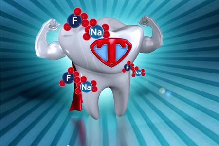 How fluoride helps a tooth get stronger
