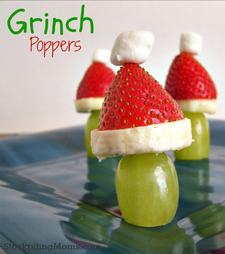 Grinch Fruit Kabobs from Momables