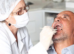 Man at a dental visit