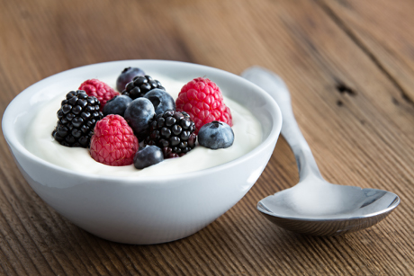 Yogurt and berries