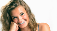 Teenage girl with braces