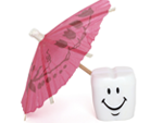 Tooth with an umbrella