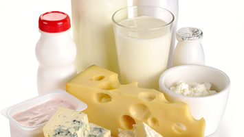 close up of dairy products