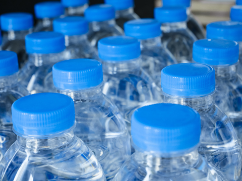 Bottled water bottles for trick-or-treating