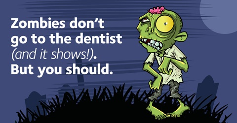 Zombie ad for Find-a-Dentist