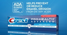 Crest Pro Health Advanced Deep Clean Mint received ADA Seal for enamel erosion