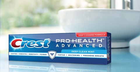 Crest Pro Health Advanced Deep Clean Mint Earns Seal for Enamel Erosion
