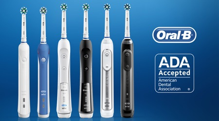 Oral-B power brushes with ADA Seal of Acceptance