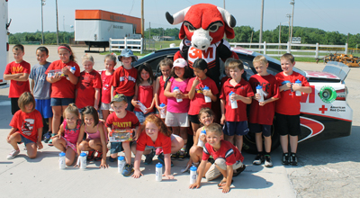 Photo of a group of children at the GKAS Nascar event in Kentucky 2014