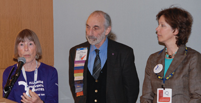 Photo of Alice Horowitz, Dr. Myron Allukian and Dr. Jane Grover