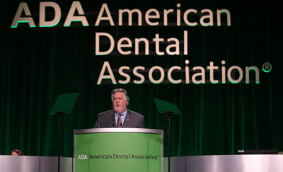 Photo of Dr. Gary Roberts at the ADA's 157th annual meeting in Denver