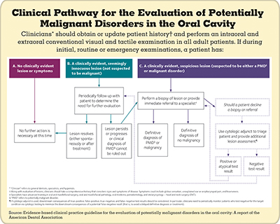clinical pathway for the evaluaiton of potentially malignant disorders in the oral cavity.