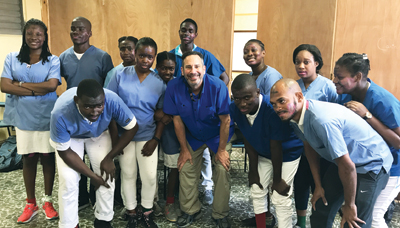 First-year dental students in Haiti