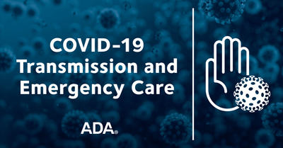 Graphic for ADA COVID-19 Emergency Care Act Webinar