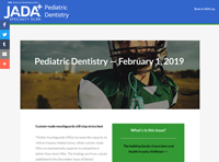 February 1, 2019 Pediatric Dentistry Speciality Scan page