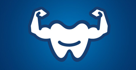 strong tooth with arms