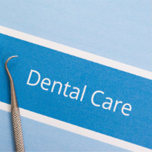 Dental care form with dental tools