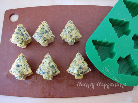 Spinach Artichoke Frittata Trees from Hungry Happenings