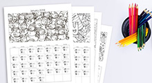 photo of activity sheets