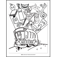 Back to School bus coloring sheet