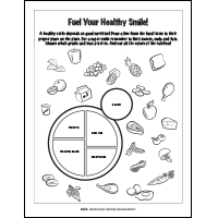 Healthy food activity sheet