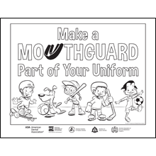 Mouthguard awarenes poster for kids