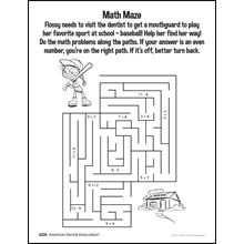 Mouthguard maze activity sheet