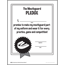 Mouthguard pledge