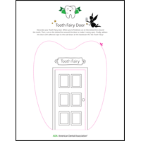Tooth Fairy door blank template