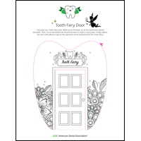 Tooth Fairy door floral template