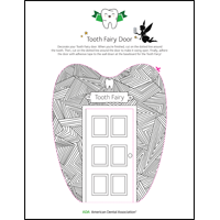 Tooth Fairy door geometric template