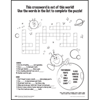 Sugar Wars crossword for younger kids