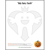 Tooth Fairy pumpkin carving stencil