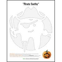Pirate pumpkin carving stencil