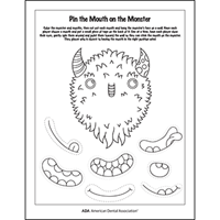 Pin the Mouth on the Monster