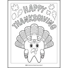 Happy Thanksgiving Turkey Tooth