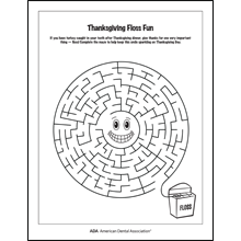 Thanksgiving Flossing Maze