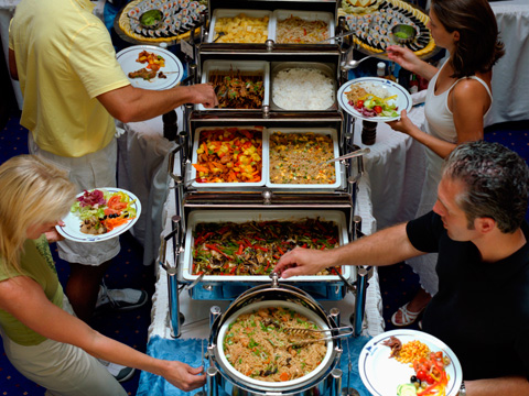 Buffet picture of food