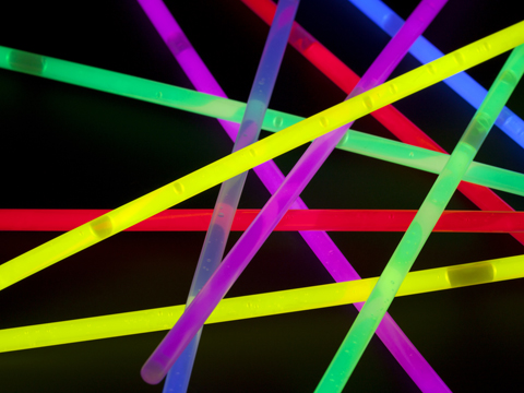 band of glow sticks