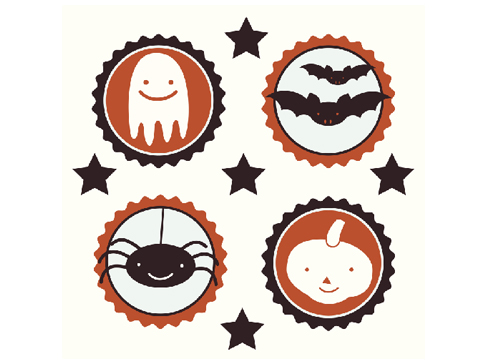 Temporary tattoos for trick-or-treating