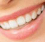 a mouth of a women smiling