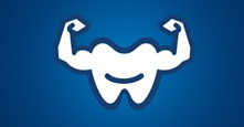 strong teeth with arms image
